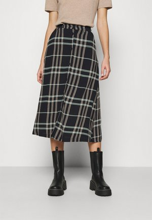 LILLIAN MIDI SKIRT - A-line skirt - black