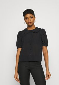 JDY - JDYLAURE COLLAR SHIRT - Button-down blouse - black - 0