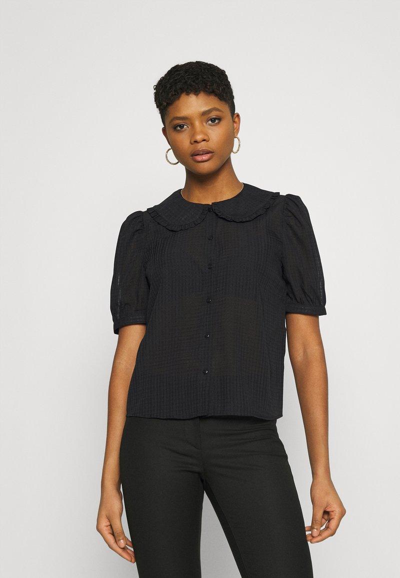 JDY - JDYLAURE COLLAR SHIRT - Button-down blouse - black