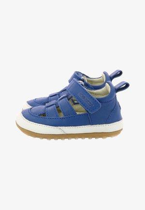 Ankle strap ballet pumps - bleu