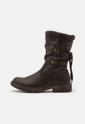 Schnürstiefel - dark brown