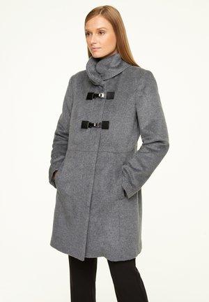 MIT STEHKRAGEN - Classic coat - light grey melange