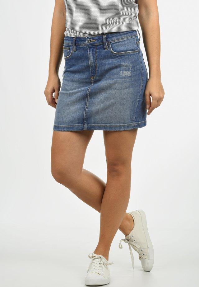 ADRIA - Denim skirt - medium blue