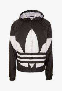 adidas Originals - BIG TREFOIL  - Windbreaker - black - 4