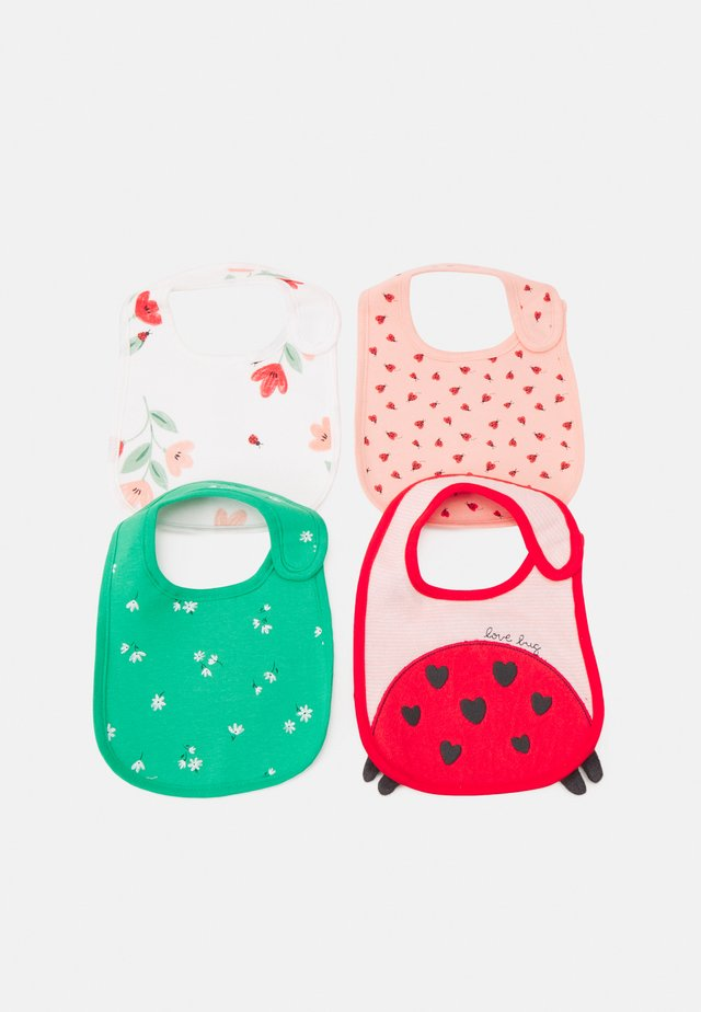 BIBS 4 PACK UNISEX - Slabbetje - light pink/green
