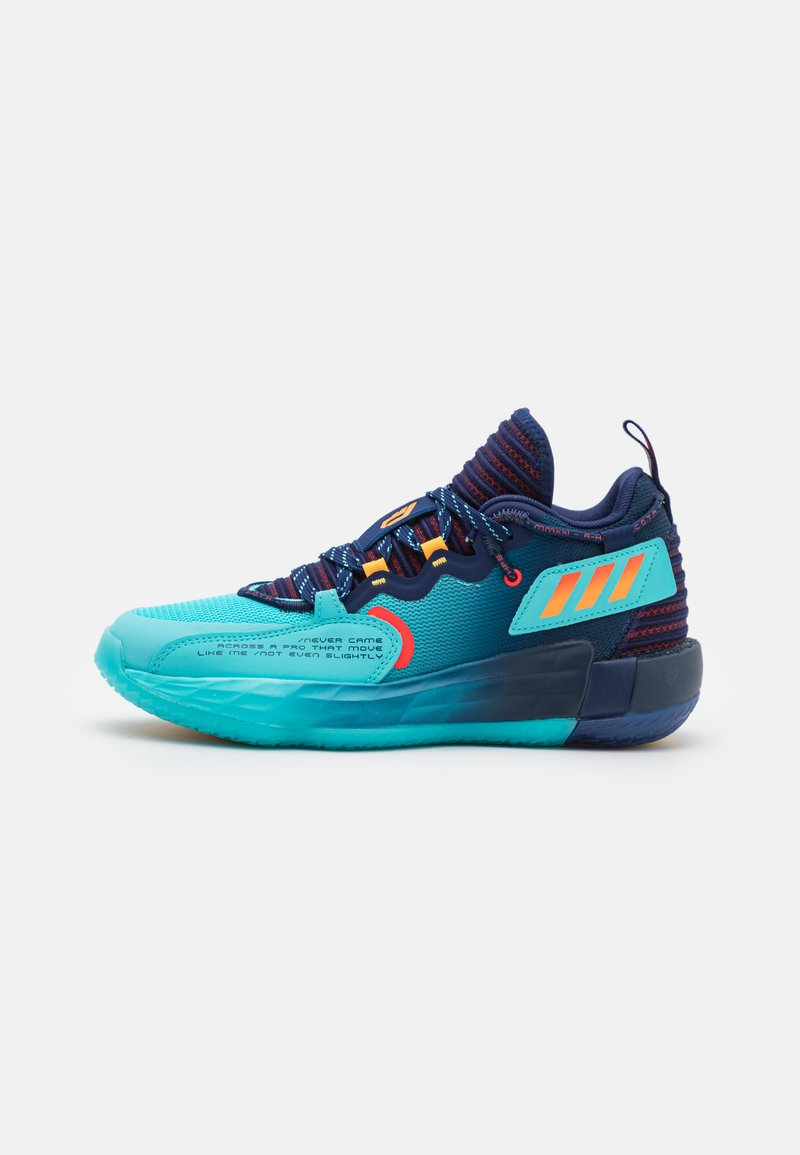 adidas Performance - DAME 7 EXTPLY BASKETBALL LILLARD LIGHTSTRIKE SHOES MID - Basketball shoes - blue