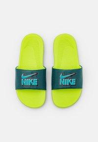 Nike Performance - KAWA SLIDE UNISEX - Sandały kąpielowe - black/aquamarine - 3