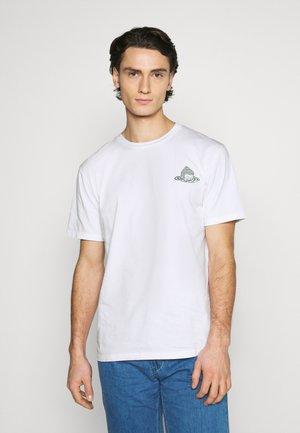 RISE UNISEX - T-shirt imprimé - white