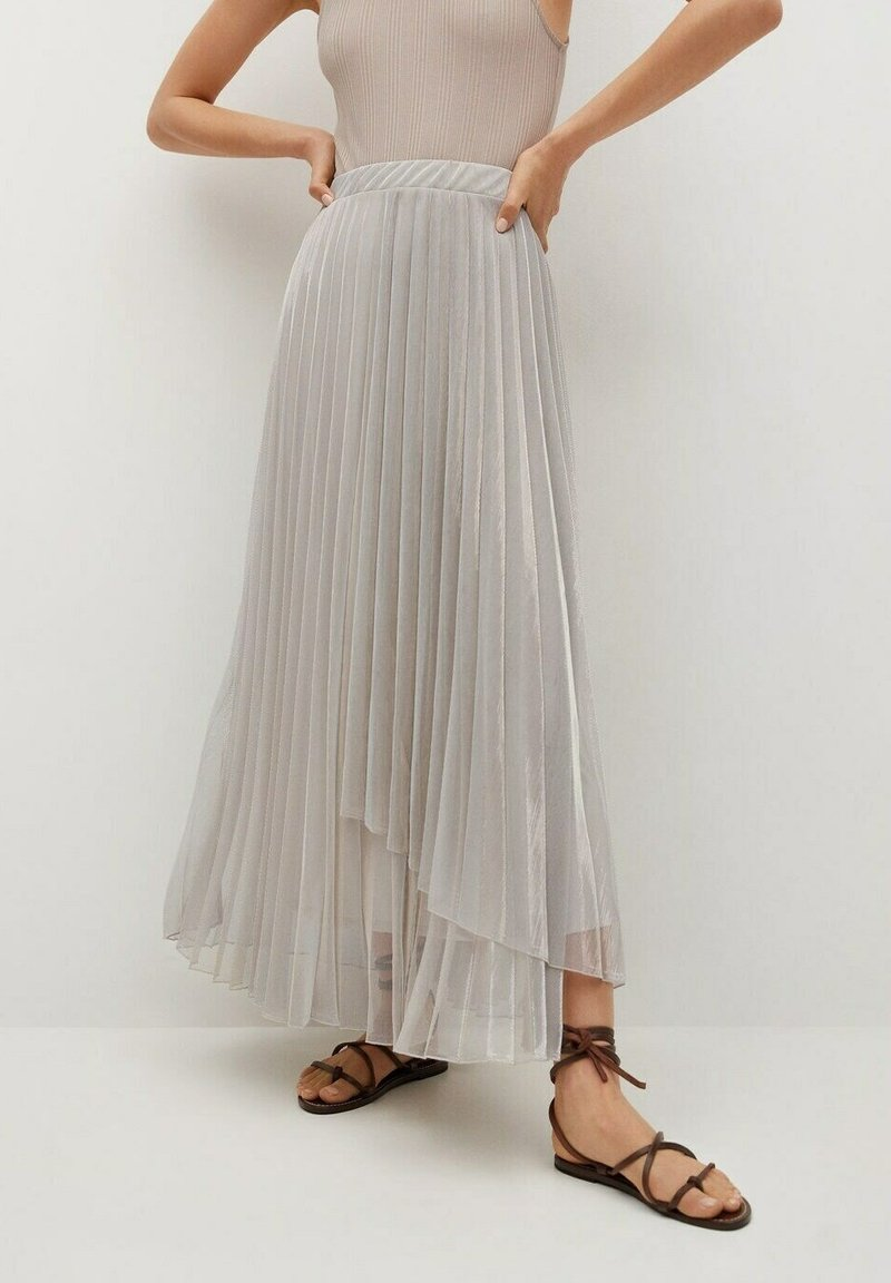 Mango - A-line skirt - silver