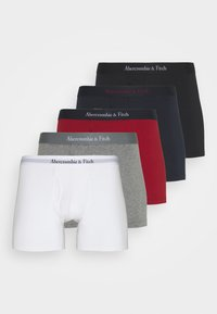 Abercrombie & Fitch - SOLID 5 PACK - Boxerky - white/red/navy/grey/black - 5
