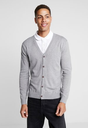 BUTTON CARD - Strickjacke - grey