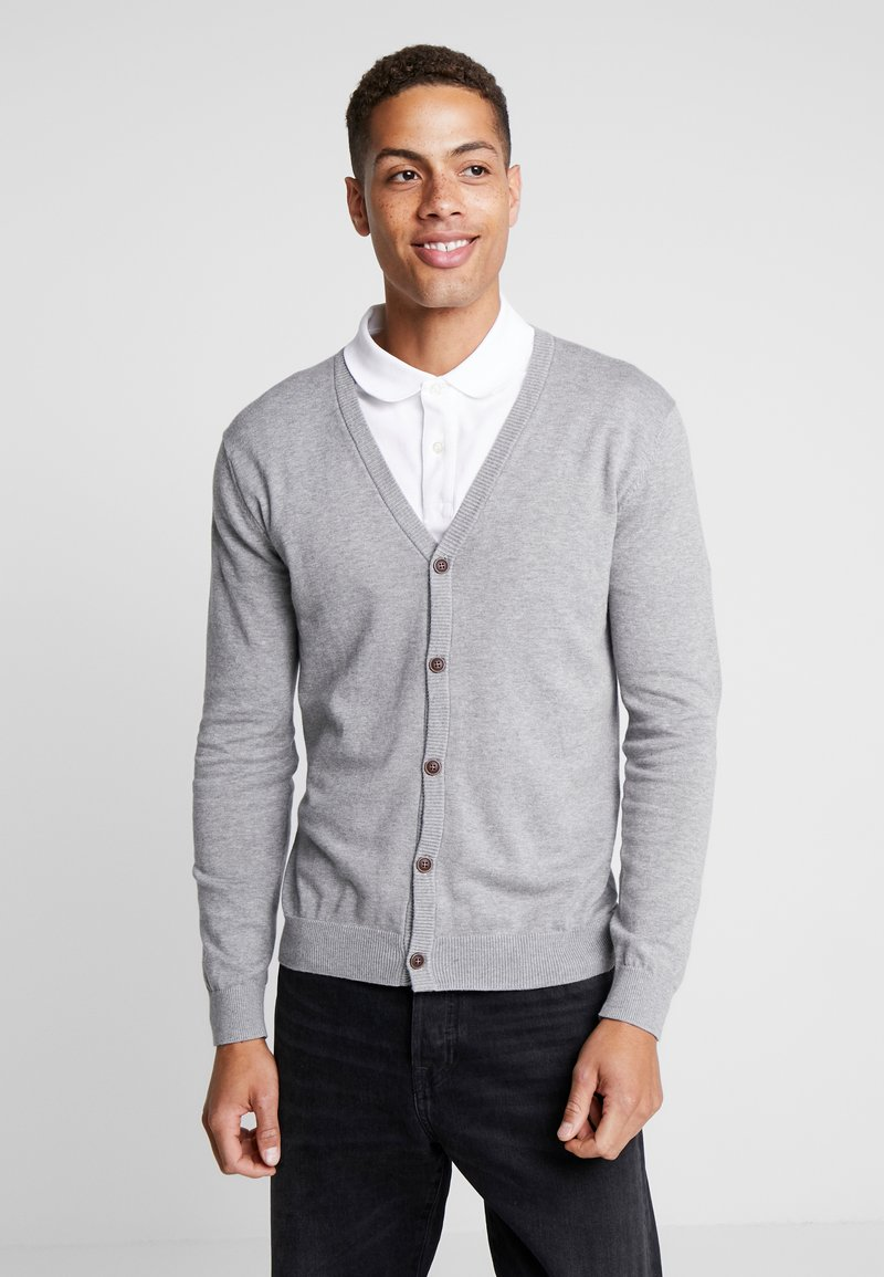 Esprit - BUTTON CARD - Cardigan - grey