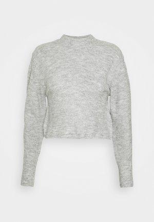 CHEVRON CROP - Jumper - grey