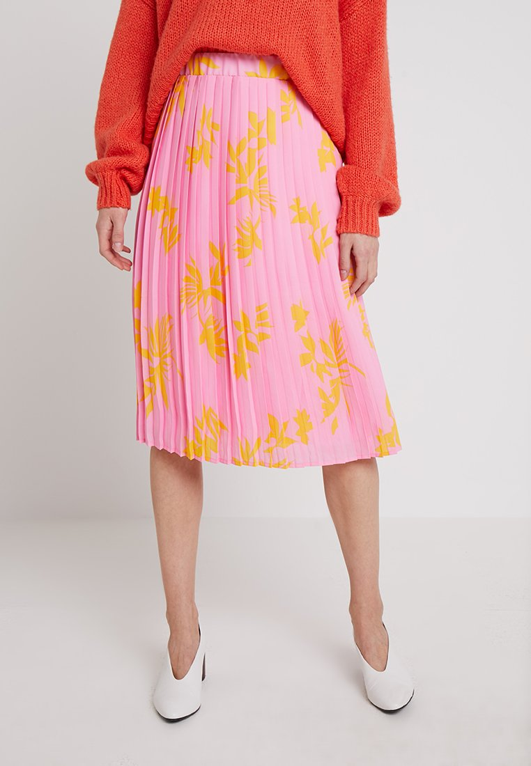 Marc O'Polo DENIM - SKIRT - A-line skirt - pink/orange