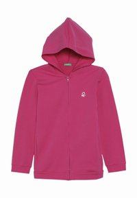 Benetton - JACKET HOOD  - Zip-up hoodie - pink - 0