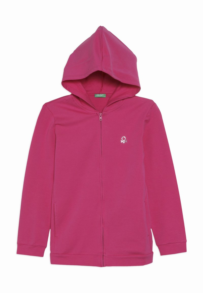 Benetton - JACKET HOOD  - Zip-up hoodie - pink