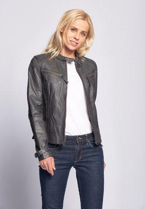 RYANA - Leather jacket - grey