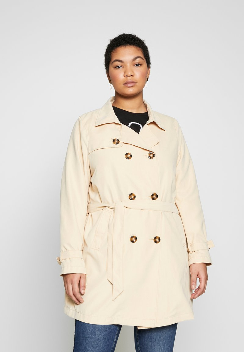 JUNAROSE - by VERO MODA - JRNEWTUKKA TRENCH COAT - Trenčkot - pebble