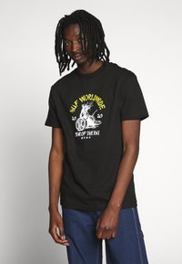 HUF - YEAR OF THE RAT TEE - T-shirt z nadrukiem - black - 0