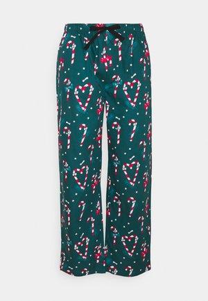 PYJAMA PANT SUGAR STICKS - Pyjama bottoms - forrest black