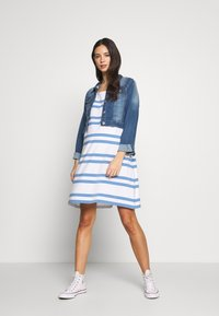Slacks & Co. - VERONIKA - Jersey dress - sky blue/white - 1