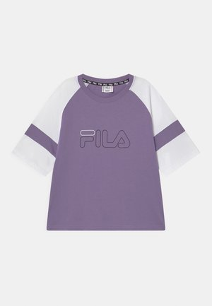JULITA CROPPED  - Camiseta estampada - purple haze/bright white