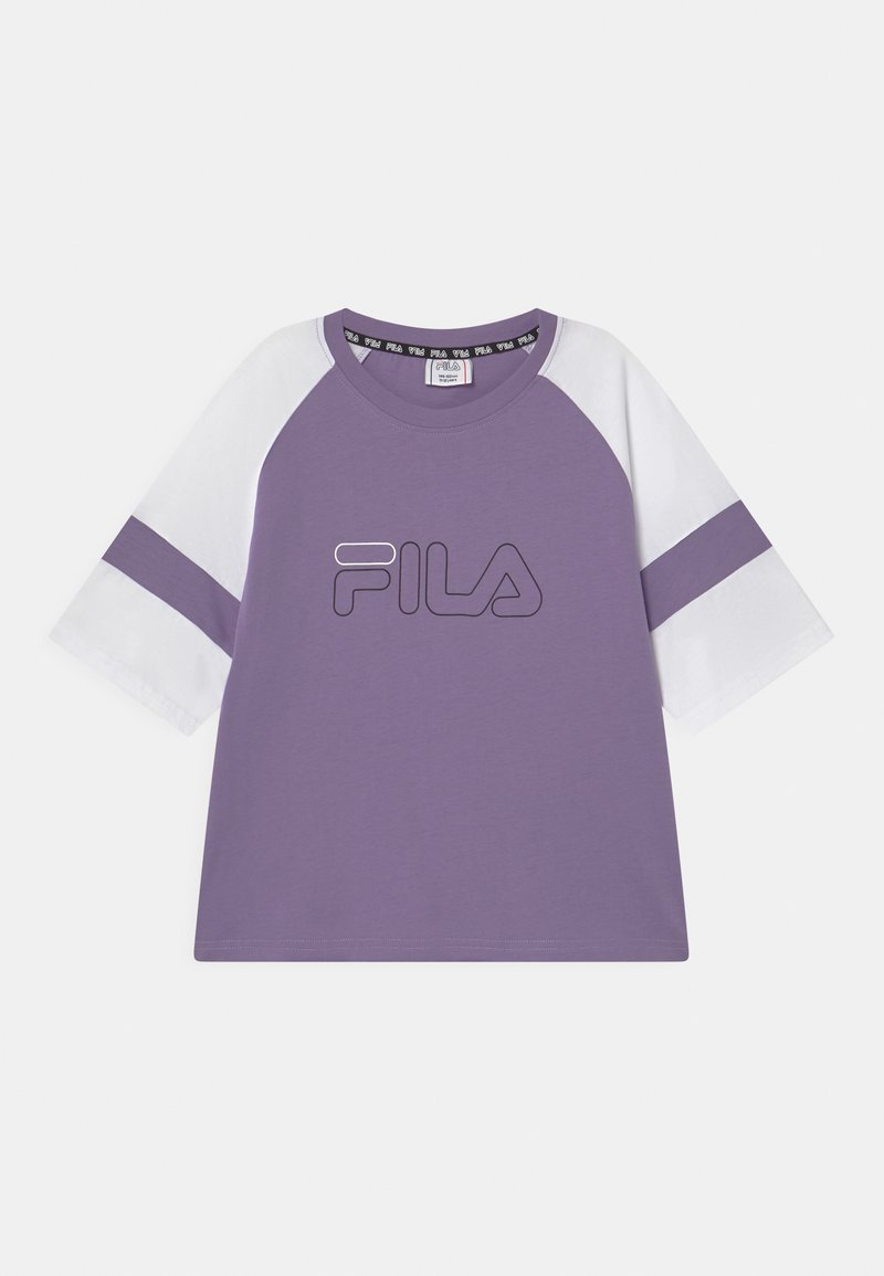 Fila - JULITA CROPPED  - Triko s potiskem - purple haze/bright white
