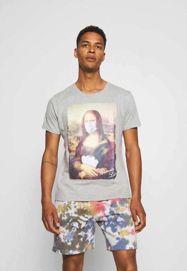 CORONALIS - Print T-shirt - grey marl/multi colour