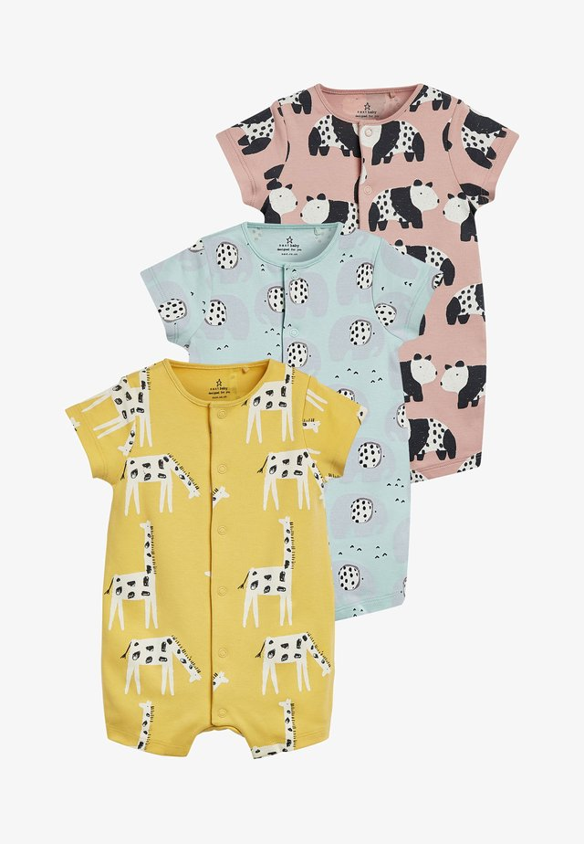 YELLOW 3 PACK MONO CHARACTER ROMPERS (0MTHS-3YRS) - Overal - yellow