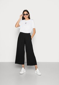 Esprit - FLOATY PANTS - Trousers - black - 1