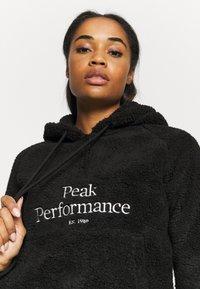 Peak Performance - ORIGINAL PILE HALF ZIP - Hoodie - black - 4