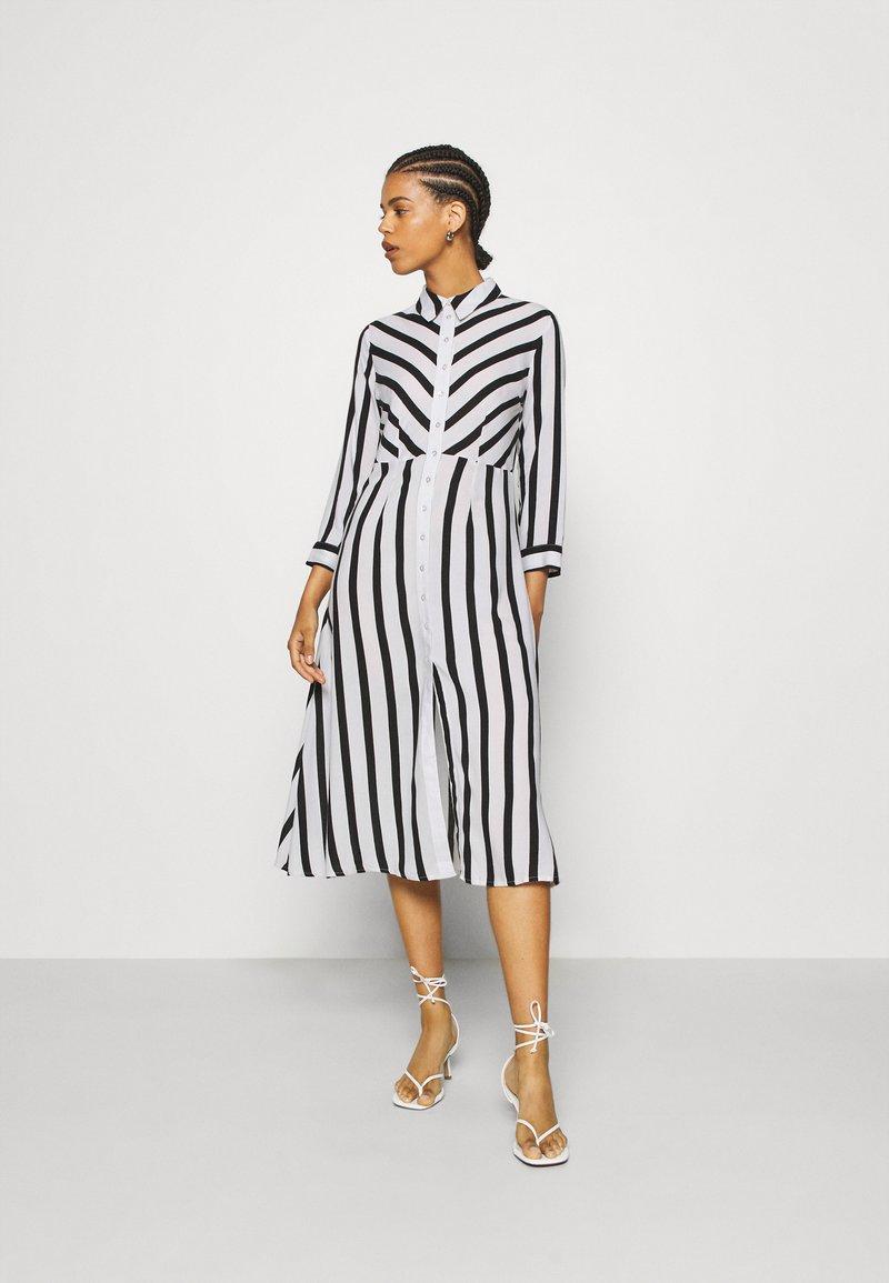 YAS - YASSAVANNA  - Shirt dress - black/white