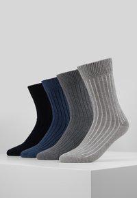 s.Oliver - 4 PACK - Socks - blue melange - 0