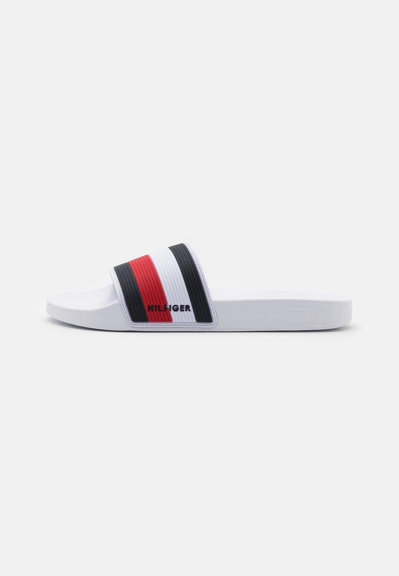 Tommy Hilfiger - ESSENTIAL CORPORATE POOL SLIDE - Pantofle - white