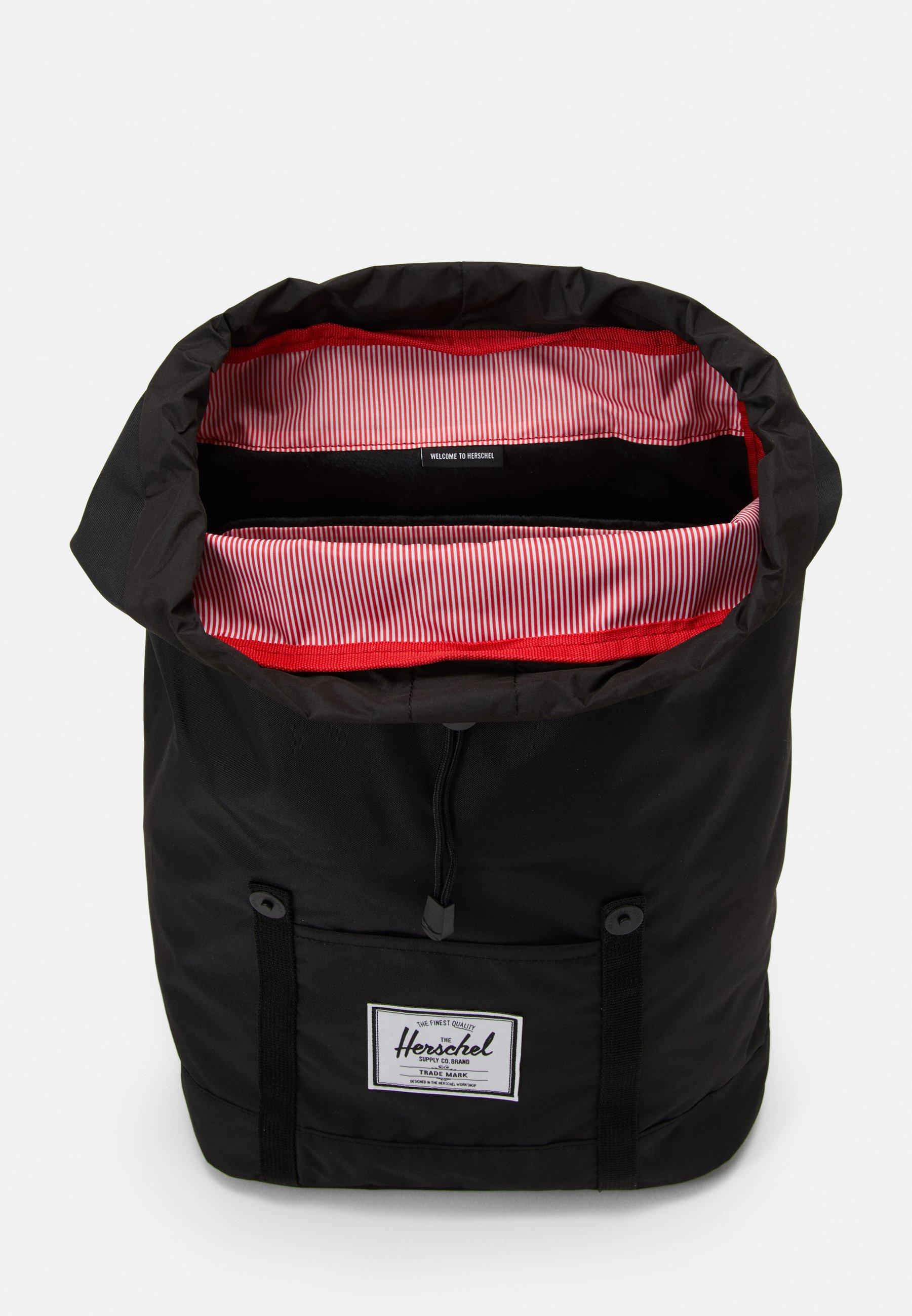 Herschel RETREAT LIGHT  - Tagesrucksack - black/schwarz meliert - Herrentaschen EXmuX