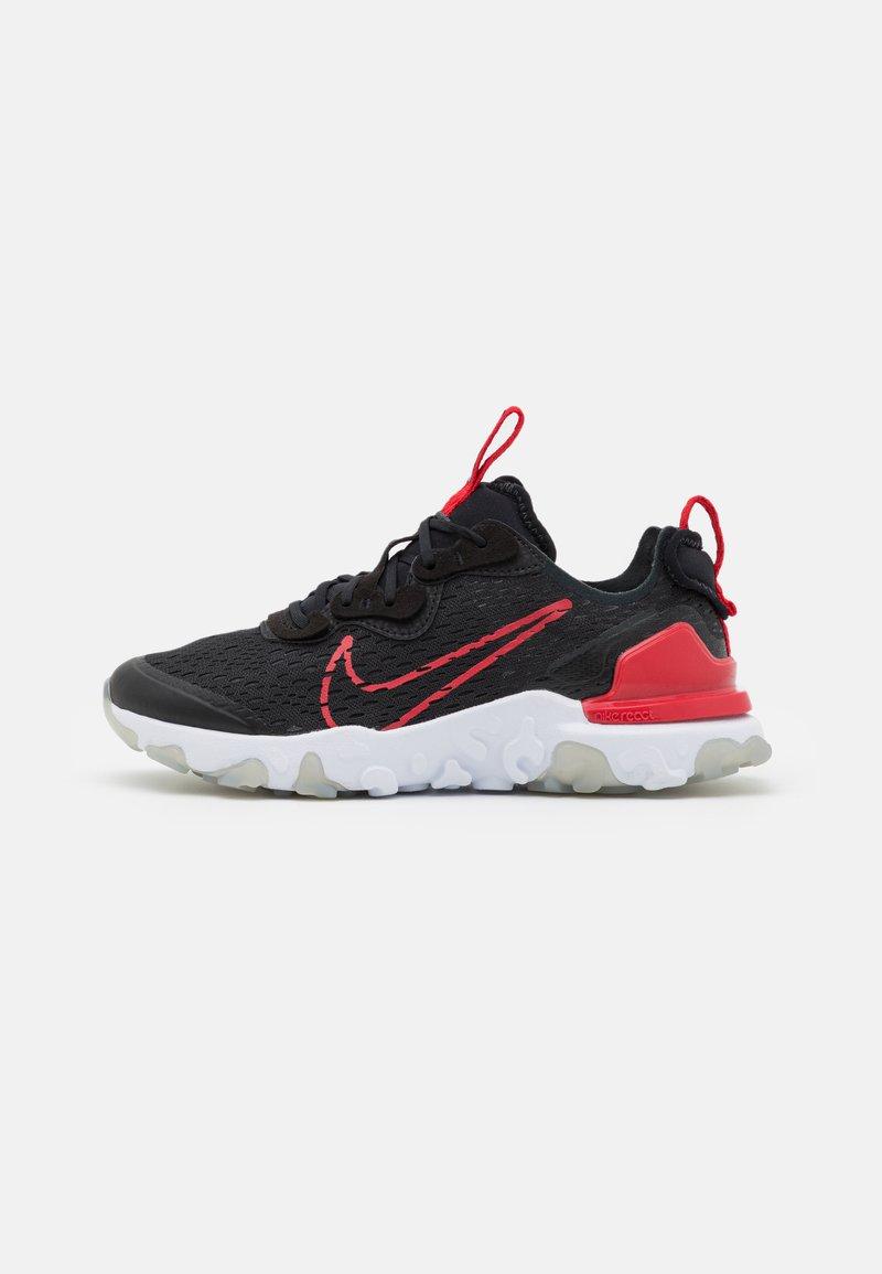 Nike Sportswear - REACT VISION UNISEX - Sneakers basse - black/university red/dark smoke grey/light smoke grey