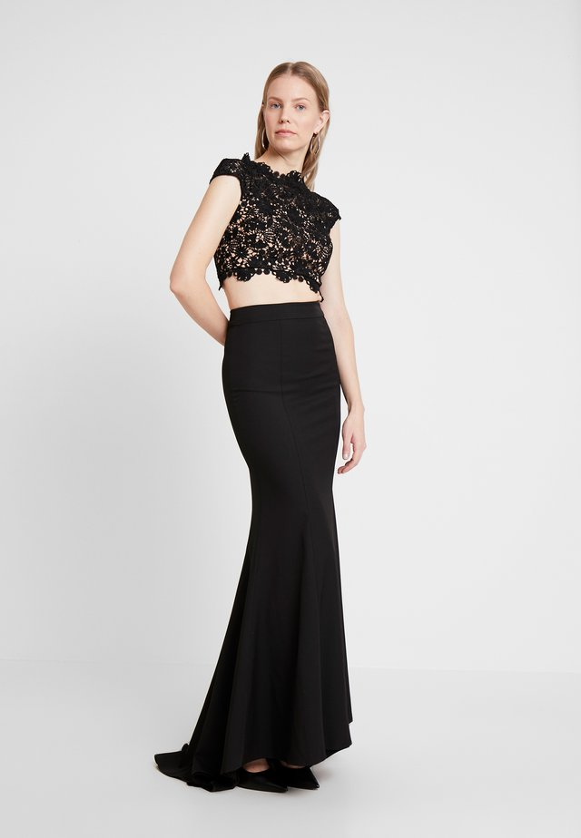 FARAH SET - Maxi sukně - black
