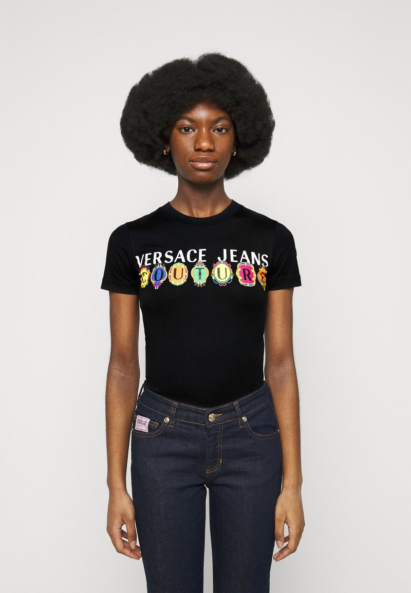 Versace Jeans Couture - TEE - Print T-shirt - black
