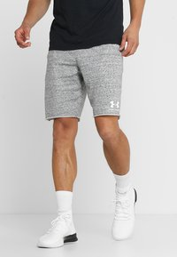 Under Armour - SPORTSTYLE TERRY  - Pantalón corto de deporte - onyx white - 0