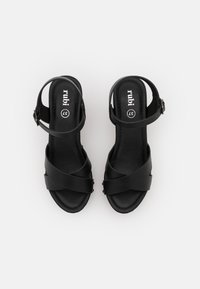 Rubi Shoes by Cotton On - MANDY BLOCK - Dřeváky - black smooth - 5