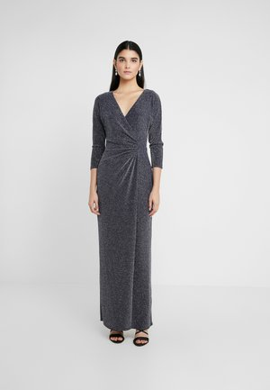 MINI METALLIC EVENING GOWN - Společenské šaty - light navy/grey silver
