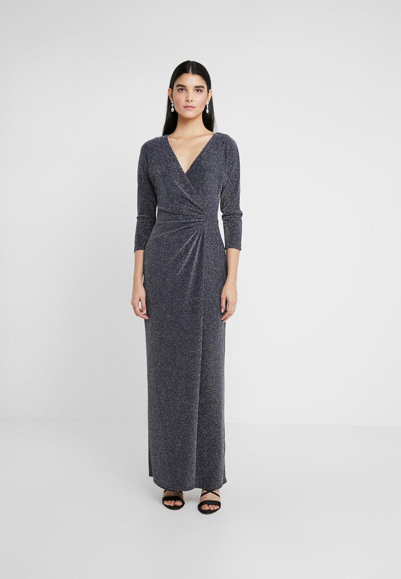 Lauren Ralph Lauren - MINI METALLIC EVENING GOWN - Vestido de fiesta - light navy/grey silver