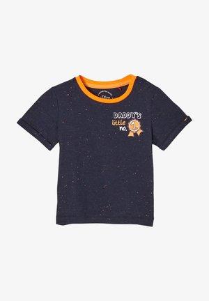 Print T-shirt - dark blue melange