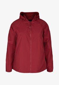 Zizzi - MIT REISSVERSCHLUSS UND KAPUZE - Outdoor jacket - red - 3