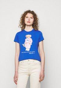 Polo Ralph Lauren - T-shirt con stampa - new iris blue - 0