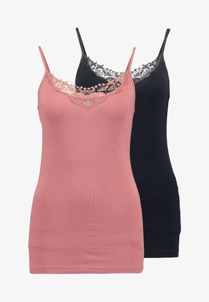 ONLKIRA SINGLET 2 PACK - Top - night sky/withered rose