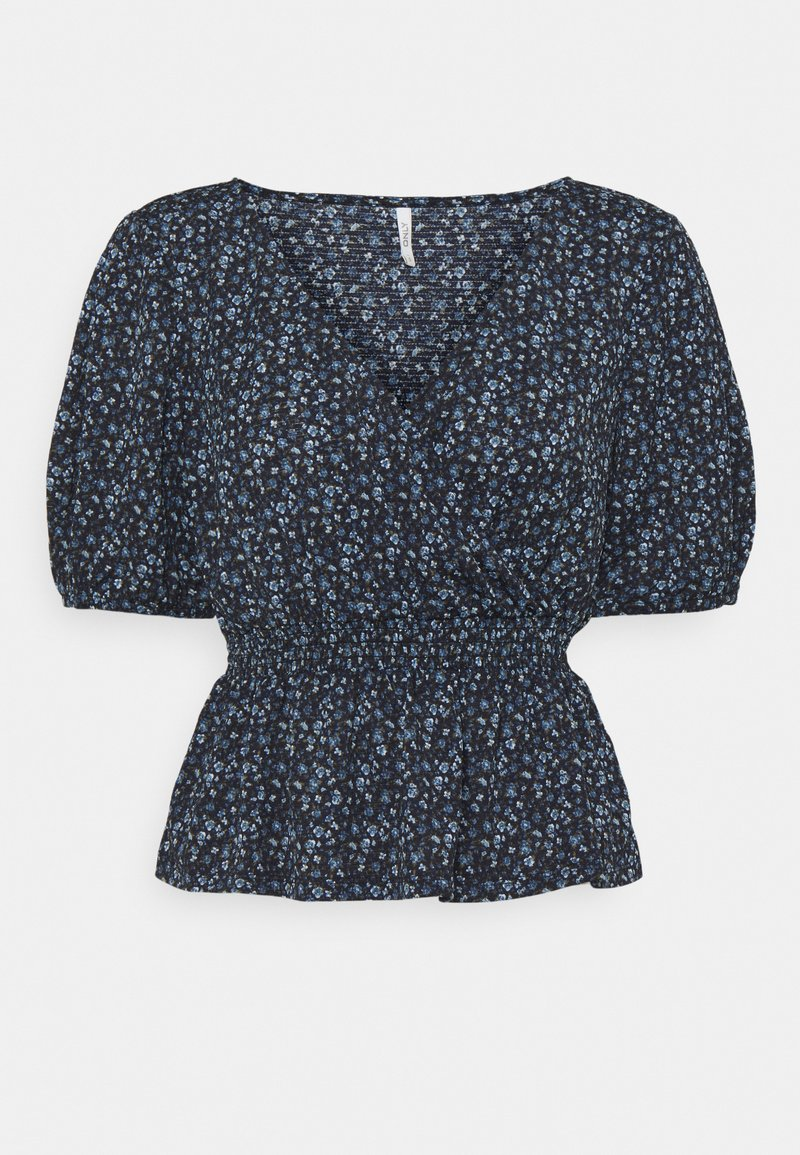 ONLY Petite - ONLPELLA WRAP SMOCK - T-shirts med print - night sky