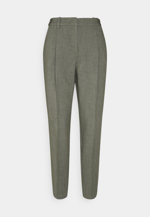 FEMININE PANTS - Trousers - deep leaf green melange