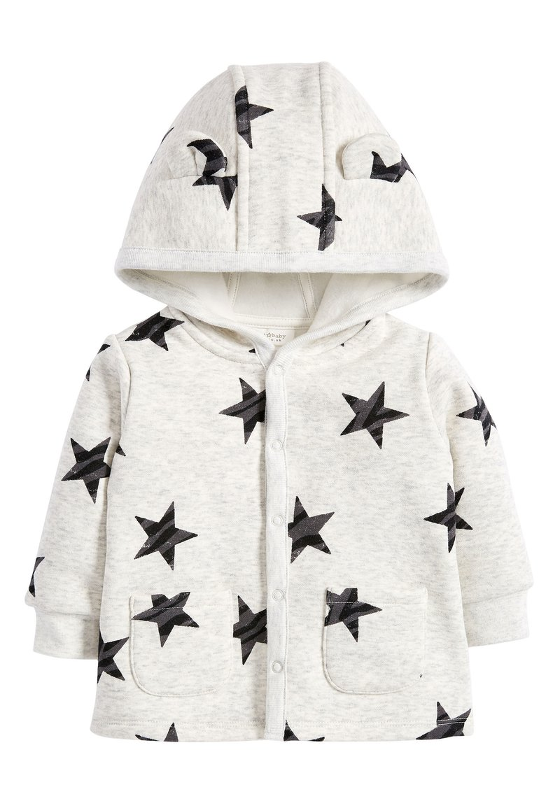 Next - BLUE COSY POPPER LIGHTWEIGHT JACKET (0MTHS-3YRS) - Mikina na zip - grey