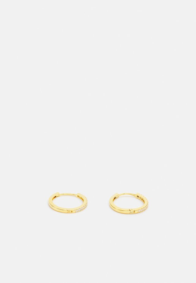 PAVE HUGGIE HOOPS - Orecchini - pale gold-coloured